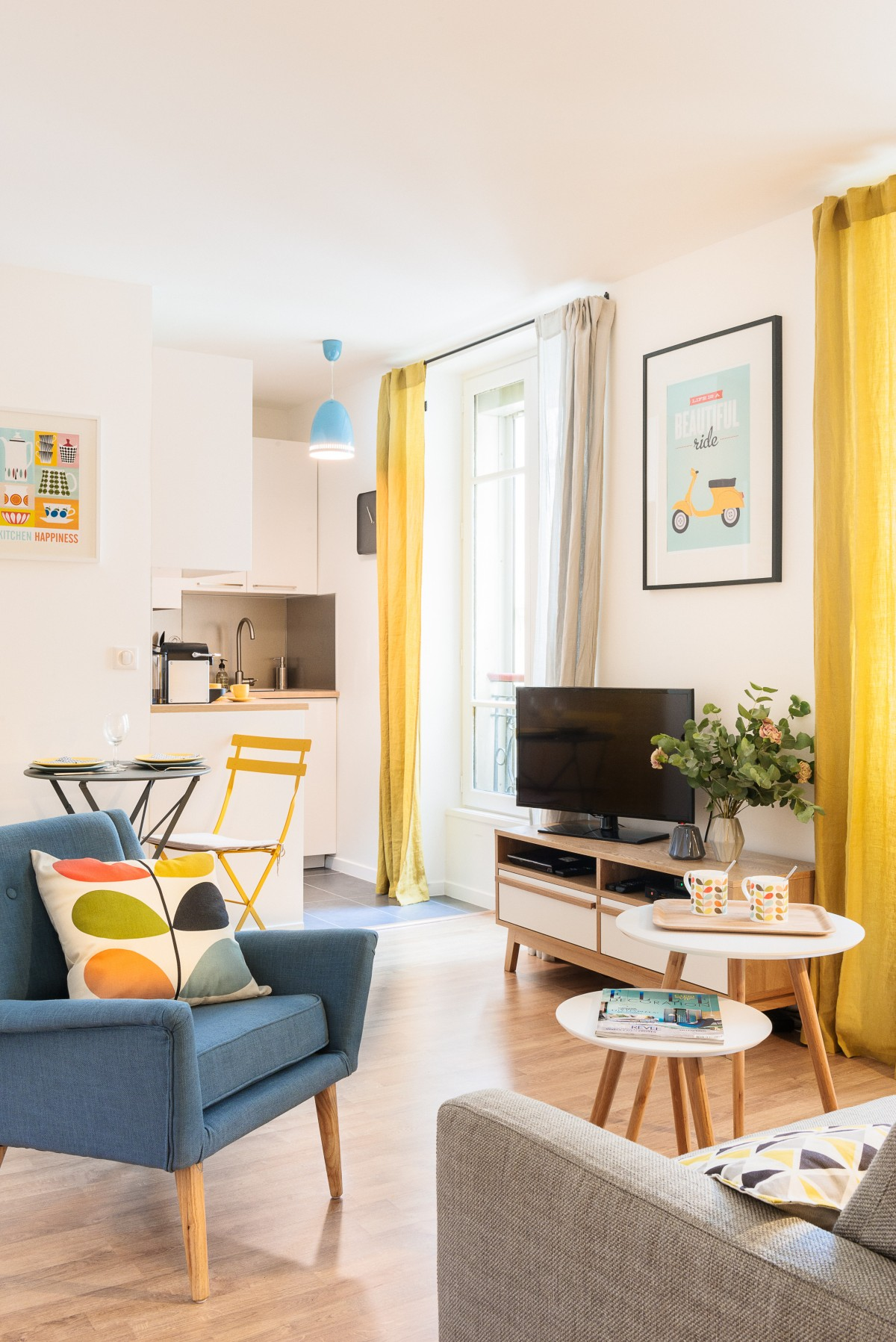 D coration appartement paris marion alberge d coratrice - Comment decorer un appartement blanc ...