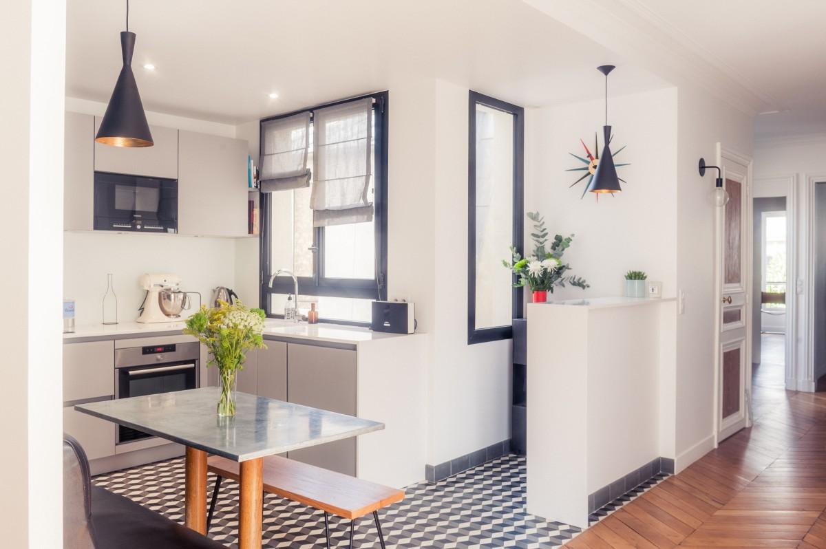 d coration et r novation d 39 un appartement de 180m2 paris. Black Bedroom Furniture Sets. Home Design Ideas