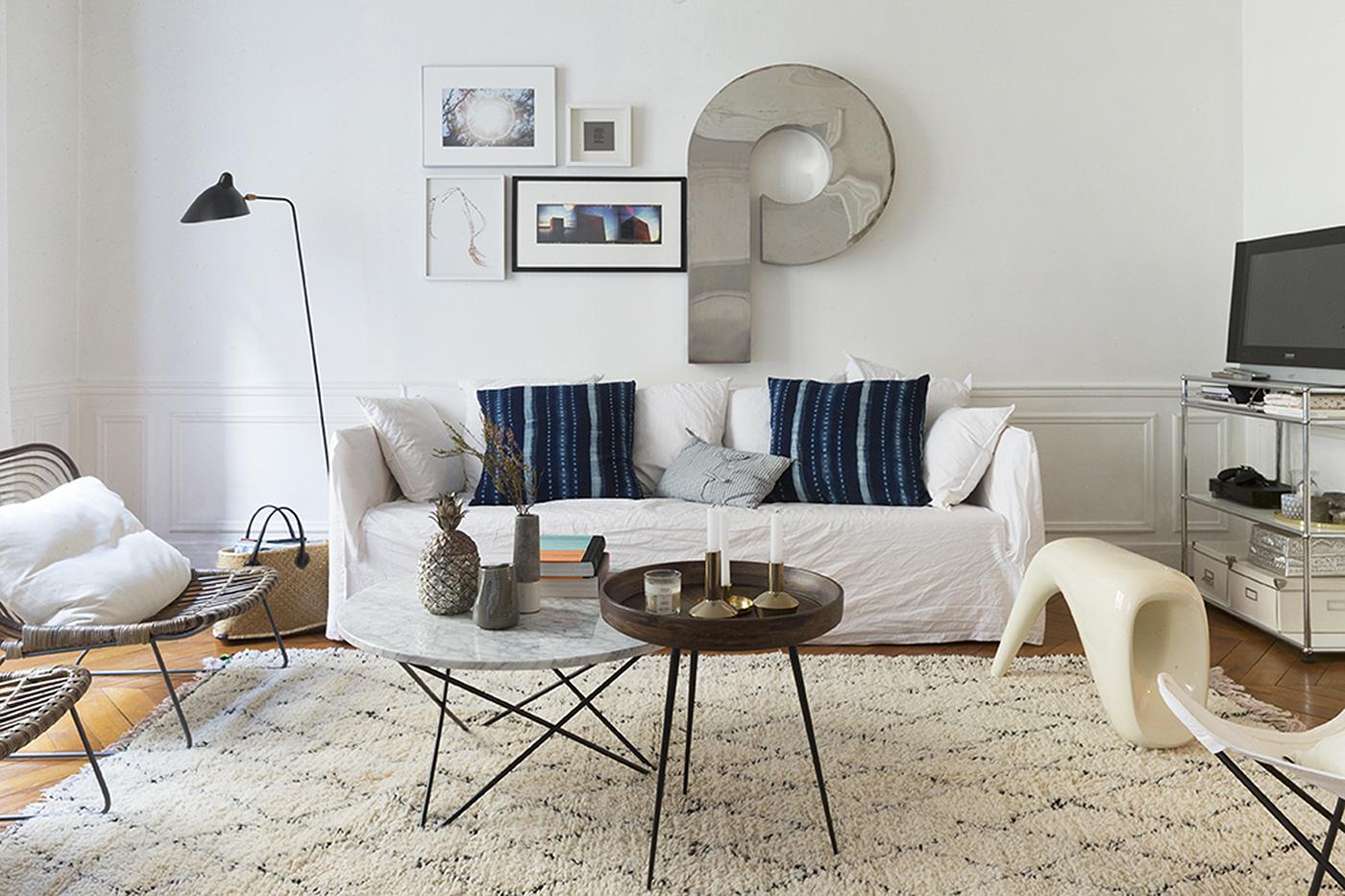 Stylisme pour les tapis secret berb re marion alberge d coratrice d 39 i - Tapis graphique noir et blanc ...