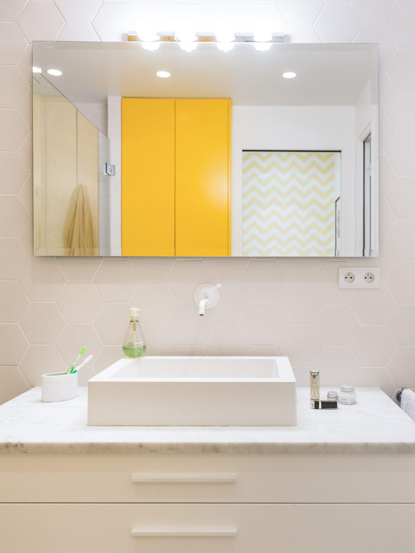 Salle de bain - Décoration paris appartement - Marion Alberge